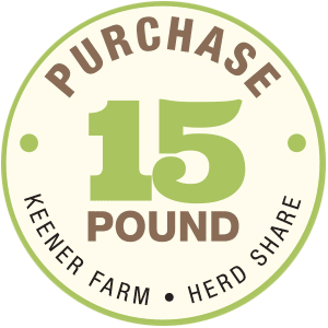 Purchase a Keener Farm CSA 15 lb. Herd Share