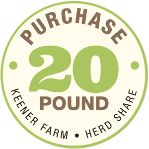 Purchase a Keener Farm CSA 20 lb. Herd Share